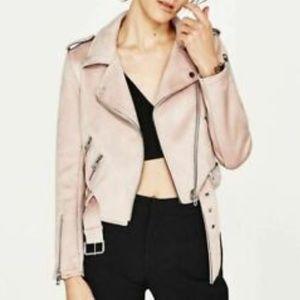 Zara Suede Moto Jacket